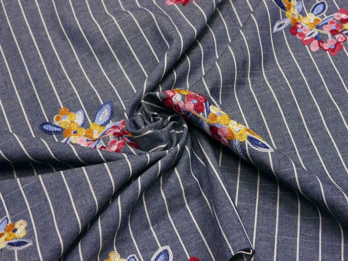Ткань с вышивкой 58-722
